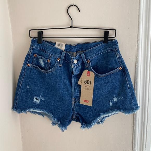 Levi's 501 High-waist Cut-off Shorts